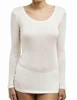 Love & Lustre Silk Jersey Long Sleeve Top