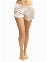 Pink premium quality silk short featuring an elasticated back for an easy and comfortable fit.