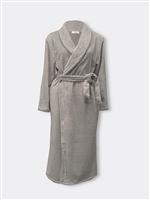 Grey fluffy robe perfect for staying cosy in during the cold winter months.