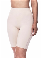Nude microfibre lightweight shaping short with no visible panty lines and sits mid thigh.