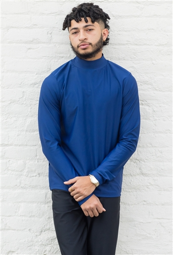 Boys/Mens Mock Neck Long Sleeve (Shiny Lycra)