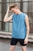 Boys Sleeveless Dance Shirt (Shiny Lycra)