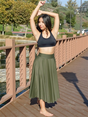 Extra Long Circle Skirt (Shiny Lycra)