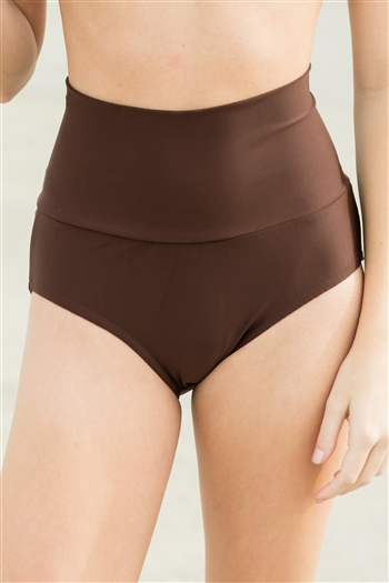 High Waist Brief (Shiny Lycra)