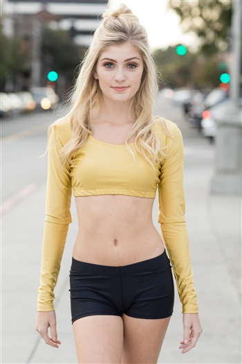 Long Sleeve Crop Top  (Lycra)