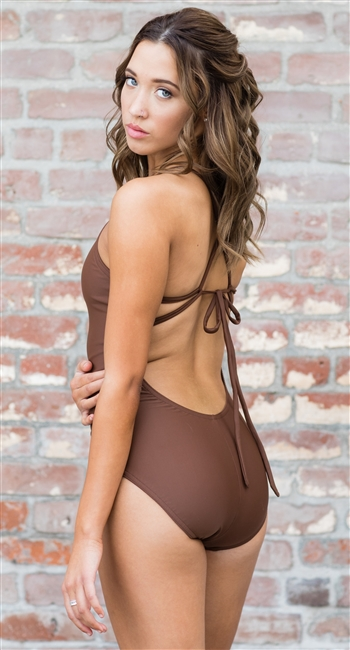 Strappy Back Leotard (Velvet)