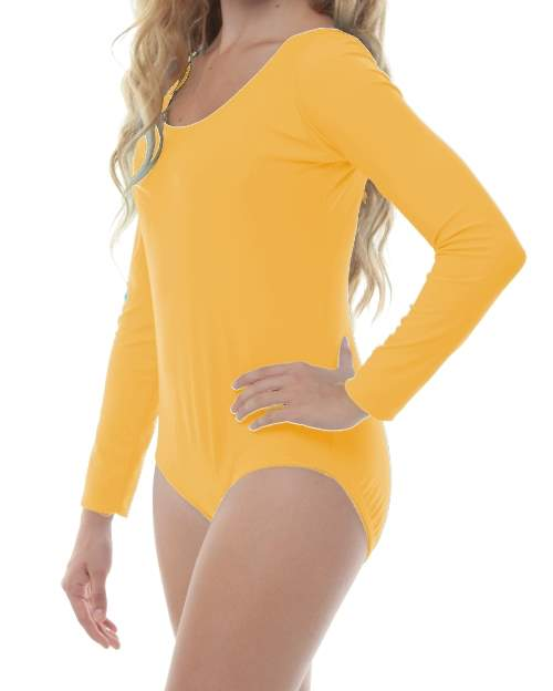 9b1e43e85 Yellow Long Sleeve Leotard (Lycra) - 200+ Colors