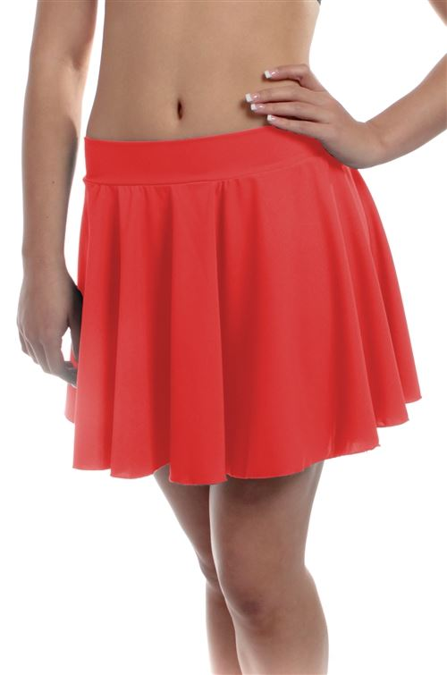 New Dance Short Circle Spandex Skirt 3 Color Choices Child Adult Sizes