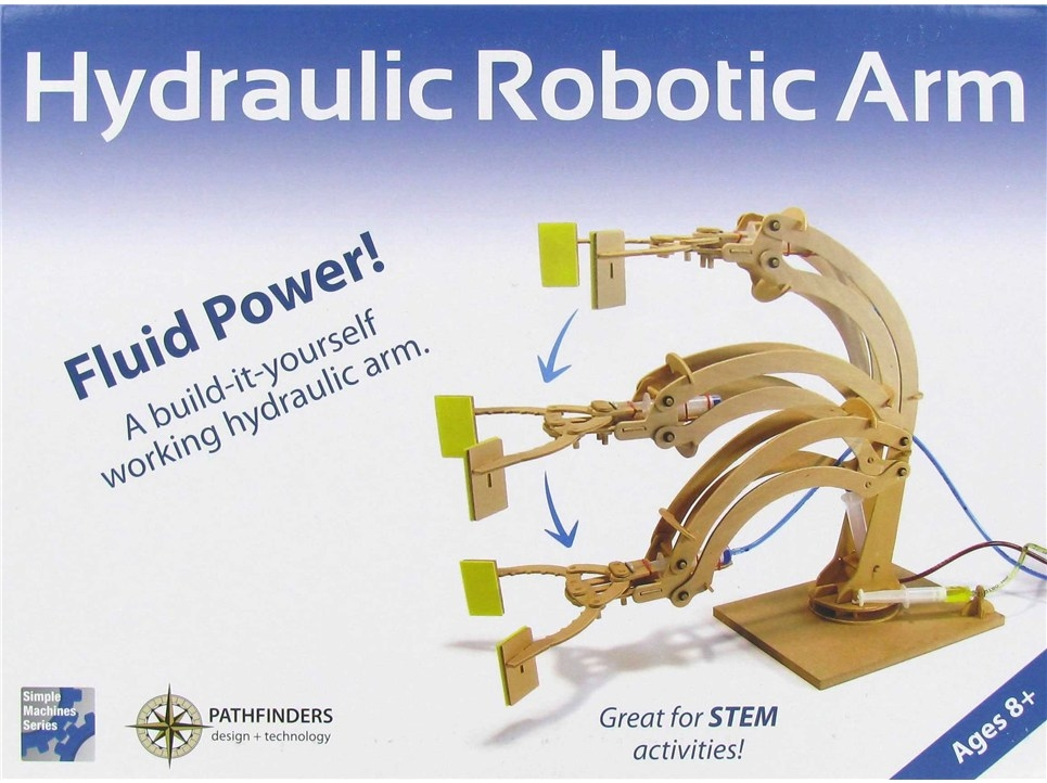 Simple Hydraulic Robotic Arm Designs : Stem hydraulic robotic arm kit pathfinders robot