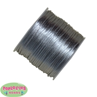 1mm gray Satin Bead Cording