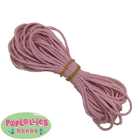 1.5mm Pink Leather Bead Cording