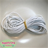 1.5mm White Leather Bead Cording