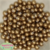 10mmGold Acrylic Matte Pearl Beads sold in packages of 50 beads