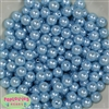 10mm Baby Blue Faux Pearl Beads sold in packages of 50 beads