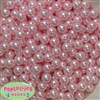 10mm Bulk Baby Pink Acrylic Faux Pearls