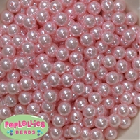 10mm Baby Pink Faux Pearl Beads sold in packages of 50 beads