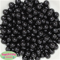 10mm Bulk Black Acrylic Faux Pearls