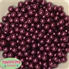 10mm Burgundy Faux Pearl Beads sold in packages of 50 beads