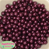 10mm Burgundy Faux Pearl Beads