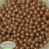 10mm ChampagneFaux Pearl Acrylic Bubblegum Beads sold in packages of 475 beads free shipping