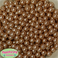 10mm Champagne Faux Pearl Beads sold in packages of 50 beads