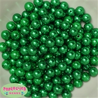 10mm Green Acrylic Faux Pearl Beads 475pc