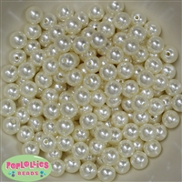 10mm Cream Faux Pearl Acrylic Beads sold in packages of 475 beads