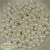 10mm Cream Faux Pearl Beads sold in packages of 50 beads