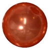 10mm Deep Orange Faux Pearl Beads sold individually