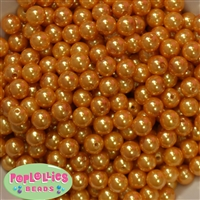 10mm Gold Faux Pearl Beads sold in packages of 50 beads