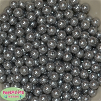 10mm Gray Faux Pearl Beads
