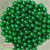 10mm Green Faux Pearl Beads