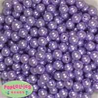 10mm Lavender Faux Pearl Beads sold in packages of 50 beads