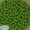 10mm Green Faux Pearl Beads sold in packages of 50 beads