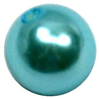 10mm Light Blue Faux Pearl Bead
