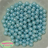 10mm Light Blue Faux Pearl Beads sold in packages of 50 beads