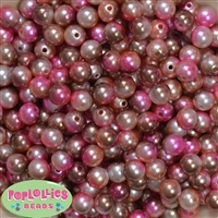 10mm Multi Color Ice Cream Faux Pearl Beads