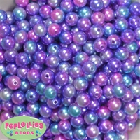 10mm Multi Color Faux Pearl Beads
