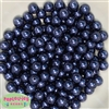 10mm Navy Faux Pearl Beads