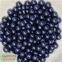 10mm Navy Faux Pearl Beads sold in packages of 50 beads