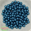 10mm Peacock Blue Faux Pearl Beads sold in packages of 50 beads