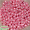 10mm Pink Faux Pearl Beads