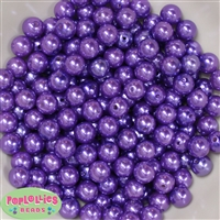 10mm Purple Acrylic Faux Pearl Beads 475pc