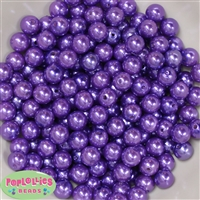 10mm Purple Faux Pearl Beads sold in packages of 50 beads