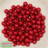 10mm Red Faux Pearl Beads sold in packages of 50 beads