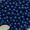10mm Royal Blue Faux Pearl Beads sold in packages of 50 beads