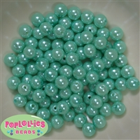 10mm Turquoise Faux Pearl Beads sold in packages of 50 beads