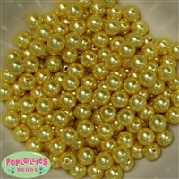 10mm Bulk Yellow Acrylic Faux Pearls sold in 475pc