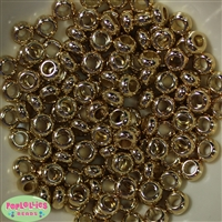 10mm Gold Colored Wide Spacer Beads