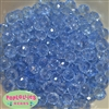 12mm Clear Baby Blue Abacus Acrylic Beads